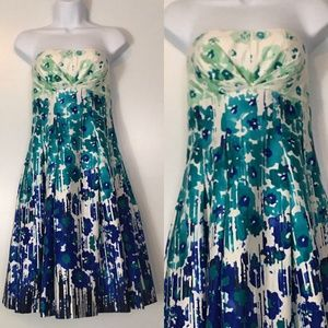Calvin Klein Strapless Floral Dress | New | Size 4